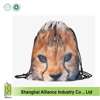 Male&female fashion bag GYM backpack draw string handbag cute cat