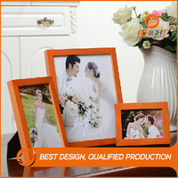 Custom different types wood funia photo frame designs / wooden picture frame