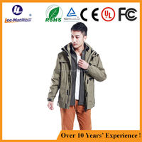 Hot sale men style clothing, electric resistant heating jacket