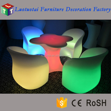 Outdoor waterproof remote control LED bar chair light up LED chairs