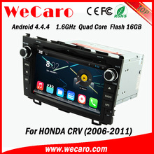 """Wecaro android 4.4.4 car dvd player touch screen 8"""" for honda crv car dvd gps navigation system android USB SD TV tuner"""