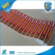 ZOLO factory direct fast delivery various self destructive customized label, egg shell sticker
