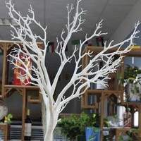 Beautiful artificial white plastic branch for wedding decoration