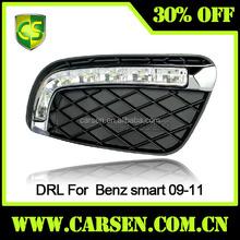 Modified car light For Smart car exterior light Fog light lamp DRL Front Bumper Auto Accessories 2009 2010 2011