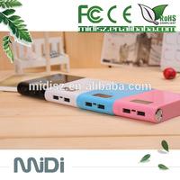 Mobile power supply! 12000mah smart gift power bank for mobile phone