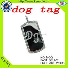 high end cute dog shape with Emboss Logo On custom shape dog tag