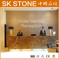 High end hotel front desk counter supplies granite counter top hotel reception decorations