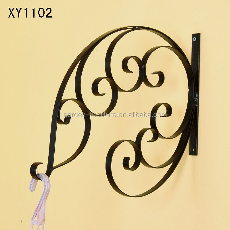 Xy1102 Metal Hanging Plant Basket Brackets Hooks Scroll Works Home ...