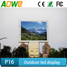 AOWE Waterproof Series- P16 DIP or SMD RGB full colour LED Display for Outdoor