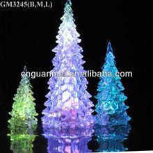 Wholesale 2013 one group fiberglass christmas tree with led light
