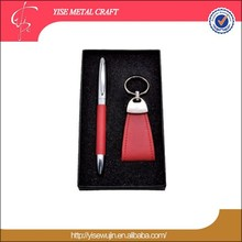 business souvenirs classical pu leather pen gift set for women