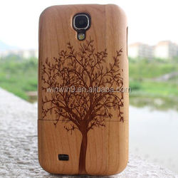 Mobile accessories laser engraving custom design Plastic wooden cell phone case,mobile phone accessories factory in china