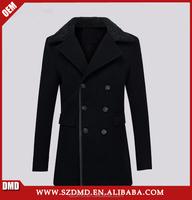 Classic long style winter wool coat for men