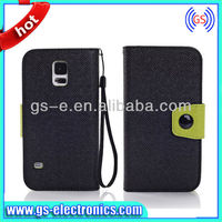 alibaba express italy S5 leather case Wholesale leather case for samsung galaxy s5 leather case