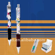 Retractable Metal Ball Pen with Silicon soft Grip in Gift Box and Display Box SA8000 factory audit in China logo pen