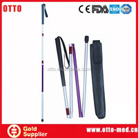Aluminum blind folding cane pads for crutches