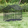 folding cat cage/ inclined top dog house with wheels