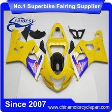 FFGSU002 Motor Fairing For GSX R750 GSXR750 GSX R600 GSXR600 2004 2005 Yellow And Blue