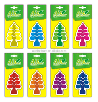 Paper car vent air freshener with many designs