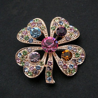 handmade elegant brooch pin, exclusive originality jewelry accessories,bunge bedstraw herb brooches BRC-0208