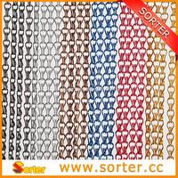 Beatiful Decorative Colorful Aluminum Chain Curtain