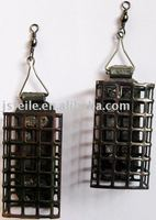 black iron metal fishing feeder cage