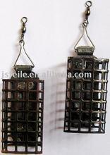 black iron metal fishing feeder cage