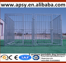 "3"" inner bar space pet fence kennel different section design easy clamps assembled zoo cages fight guard available dog enclosure"