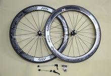 De alta calidad de carbono bicicleta de carretera ruedas 700c 3k& bruto/acabado mate chino de carbono ruedas