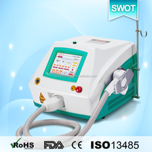 SWOT sapphire contact cooling diode laser hair removal