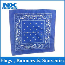 2015 fashion personalized dye sublimation 55x55cm square bandana custom cotton bandana for sports