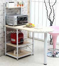 home desk with shelf
