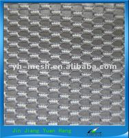 NT808 3D Polyester Mesh White And Blue Upholstery Fabric