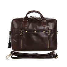 new import genuine leather men bag for business briefcase brown leather bags
