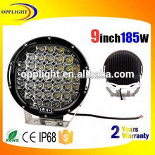 Opplight Factory directly 185w 9inch car arb work light spot/flood beam auto 9' led for truck offroad 4x4 j eep