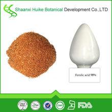 Natural de ácido ferúlico 98% en polvo