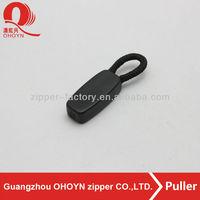 decorative black zipper pulls,custom plastic pull for handbags