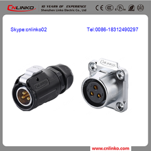 cnlinko hot selling male female plug and socket power plug connector connector waterproof male female For outdoor led display
