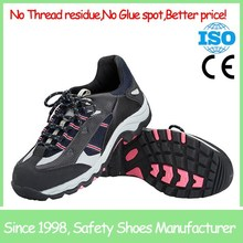 Manufacturer wholesale top quality Low cut black safety shoes steel toe