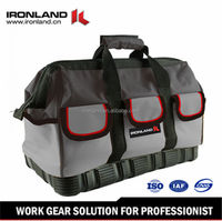 Customized 2015 Quality assurd Black and Grey small 600D kit tool bag