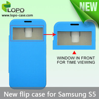 fancy soft protective cover leather flip case for phone samsung S5