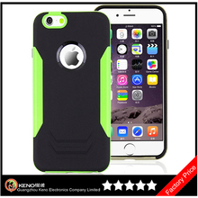 Keno Fashionable Design PC+Silicon 2 In 1 Cover for iPhone 6 Hybrid Case