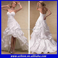 WE-1408 Strapless sweetheart neckline high low hem skirt wedding dresses corset high low wedding gowns