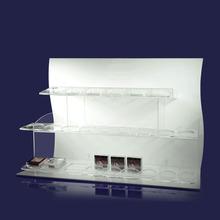 venta caliente de acrílico transparente polaco opi cosméticos de maquillaje organizador del cajón