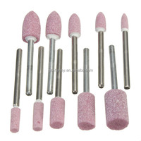 New Arrival 10pcs Abrasive Mounted Stone Rotary Tool Grinding Wheel 1/8 Shank For Dremel