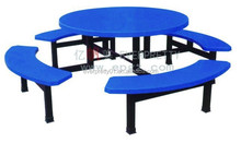 New Arrival Round Shape School Model Table Sets, Colorful Fiberglass School Model Dining Table for Dining Furniture