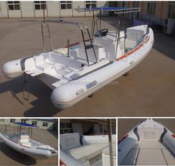 Chinese model rigid inflatable fiberglass fishing boat rib 680