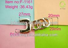 bag accessory bag parts metal bag hanger bag handle in light gold F-1161
