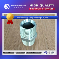 With 2 years warantee factory supply 37 degree jic fittings/jic male connectors/ both male thread straight tube fitting