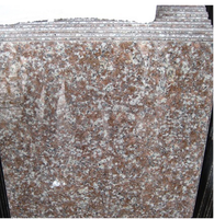 polished granite stone for stair,cheap red granite steps